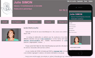 Site internet Kiné de Simon Julie
